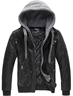 2b1be2e4d Levi's Men's Faux-Leather Jacket with Hood at Amazon Men's Clothing ...