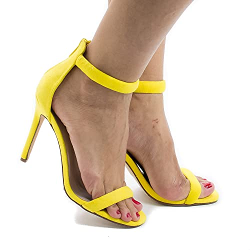09fa903135c82 Classic High Heel Strappy Zipper Ankle Strap Sandal