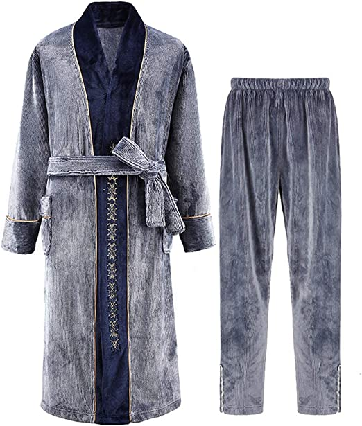 Pijama Bata De Casa Gruesa Bata Franela Invierno Material De ...