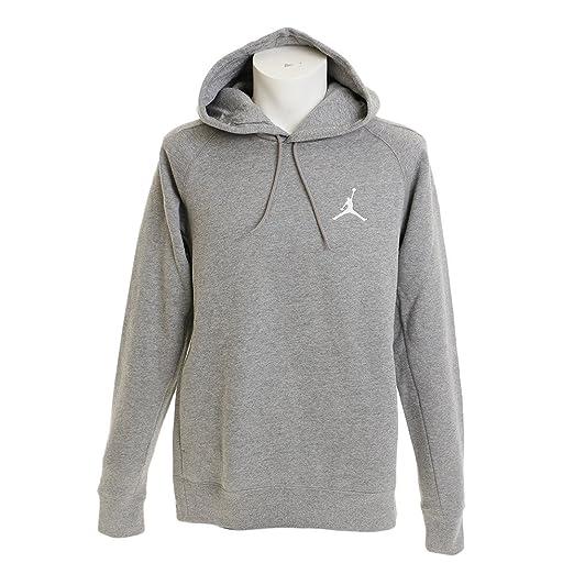 503fdbd0c4ef Nike Mens Jordan Flight Pull Over Hooded Sweatshirt Carbon Heather White  NK823066-091 Size