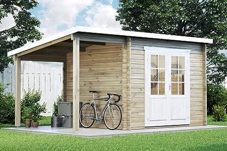 Carlsson Alpholz Maria - Caseta de jardín con techo de arrastre de ...