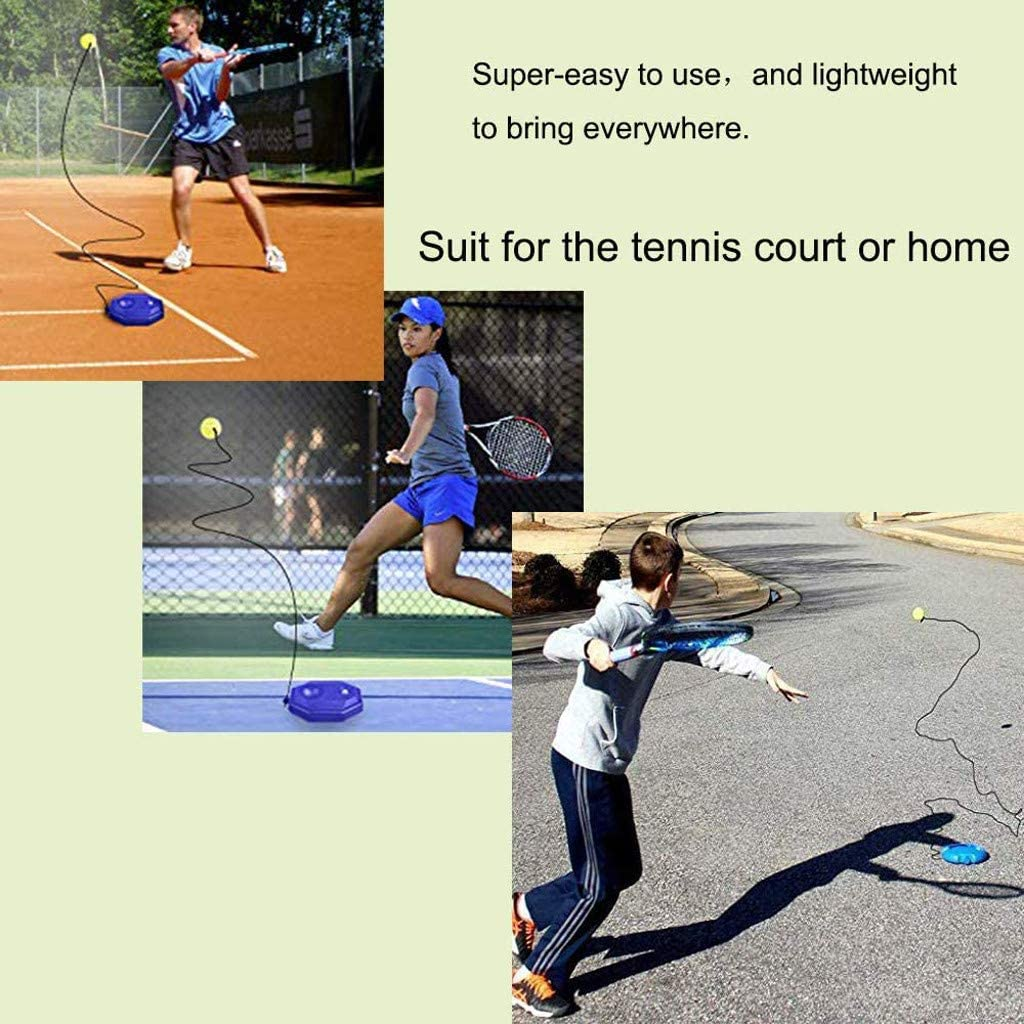 ChenGG Tennis Trainer Rebounder Ball Trainer Baseboard with Long Rope Perfect for Solo Tennis Training Tools Tennis