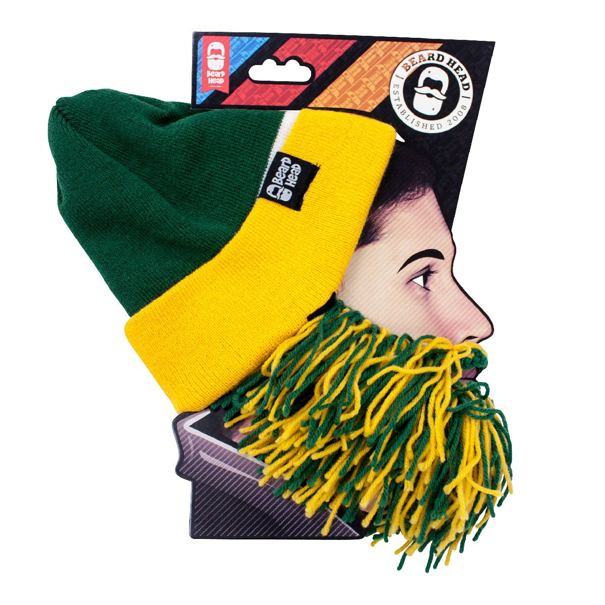 Beard Head Tailgate Series Knit Beanie w Beard Hat