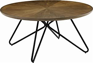 Coaster Home Furnishings Churchill Round Dark Brown and Black Coffee Table