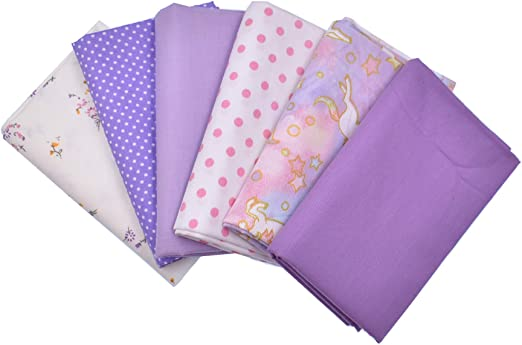 100/% cotton fabric patchwork craft pink polka dot spot sewing quilting craft