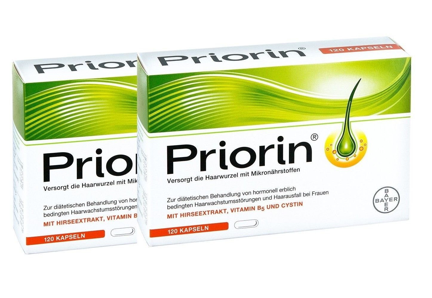 Bayer Priorin Anti Hair Loss Growth - 240 Capsules/Box Beauty Hair Care