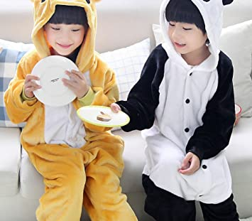 CWJ Pijamas-Niños Dibujos Animados Franela Animal Novedad Disfraces Cosplay Pijamas Juegos de rol Halloween