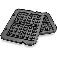 Gvode Waffle Plates for Cuisinart Griddler GR-4N, GR-5B, GR-6 and GRID-8N Series (Not for Old Model GR-4/GRID-8 & GR…