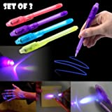Trend Products Portable Invisible Magic Pen with UV-Light (Random Color) - Set of 3
