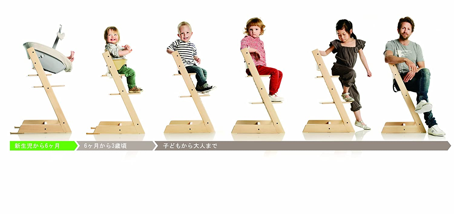 amazoncom  stokke tripp trapp chair natural  childrens  - amazoncom  stokke tripp trapp chair natural  childrens highchairs  baby