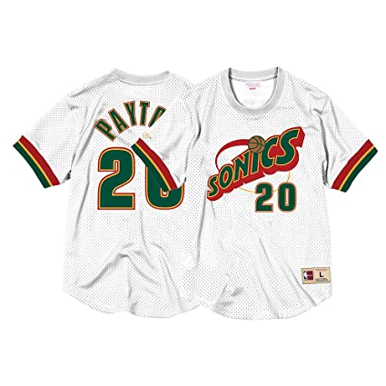 Mitchell   Ness Gary Payton Seattle Supersonics Mens NBA Mesh Jersey Shirt  White (X- c6fa656c9
