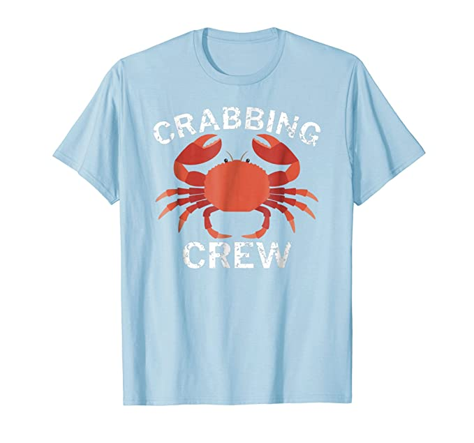 68b95c103 Amazon.com: Crabbing Crew Funny Crab Fishing T-Shirt: Clothing