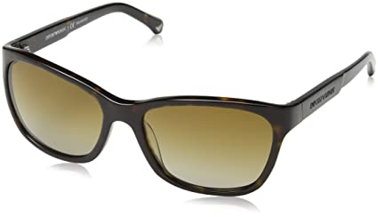 abe9ab1fc8a Image Unavailable. Image not available for. Color  EMPORIO ARMANI - EA4004  - 5026 T5 SUNGLASSES DARK HAVANA POLARIZED 56MM