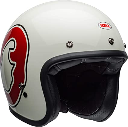 7059f603 Amazon.com: Bell Custom 500 Special Edition Open-Face Motorcycle Helmet (RSD  WHO Gloss White/Red, X-Large): Automotive