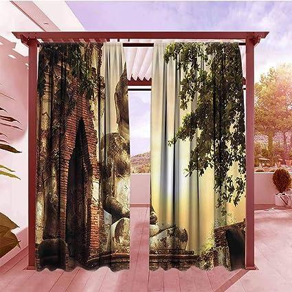 Amazon.com: Cortina interior y exterior con diseño de árbol ...