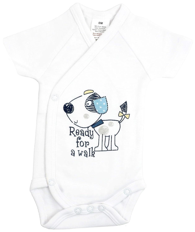 5er Pack Baby Jungen Bodys Wickelbodys Kurzarm Baumwolle