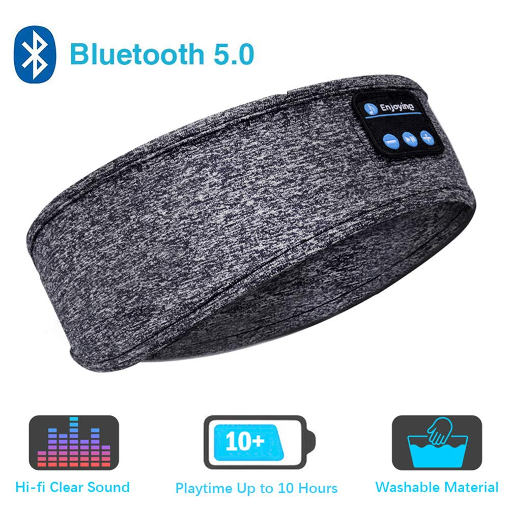 Sleep Headphones Bluetooth Headband,Upgrage Soft Sleeping Wireless Music Sport Headbands, Long Time Play Sleeping Headsets with Built in Speakers Perfect for Workout, Running, Yoga by WINONLY