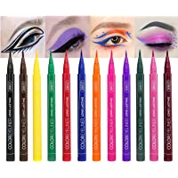 12 Colors Matte Liquid Eyeliner Set, Waterproof Superstay Long Lasting Matte Eye Liner Pencil by Rechoo (12 Rainbow…