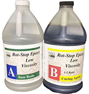 Rot Stop Epoxy Resin, 1 Gallon Kit, Includes Part A & B