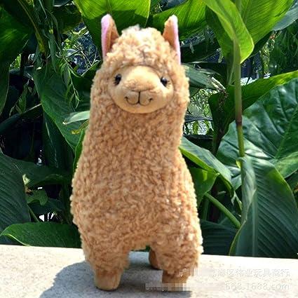 Amazon.com: JEWH - Muñeca de peluche de Alpaca Llama con ...