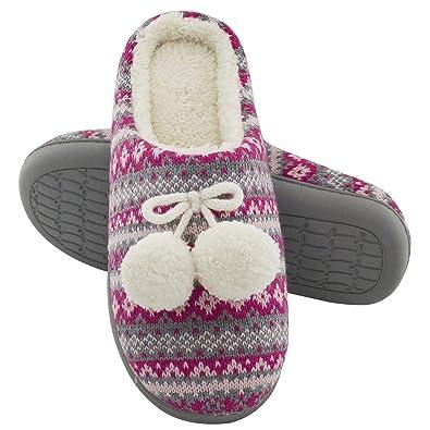 6c626f0cab32d RockDove Women s Pom Pom Bootie Slippers (9-10 B(M) US