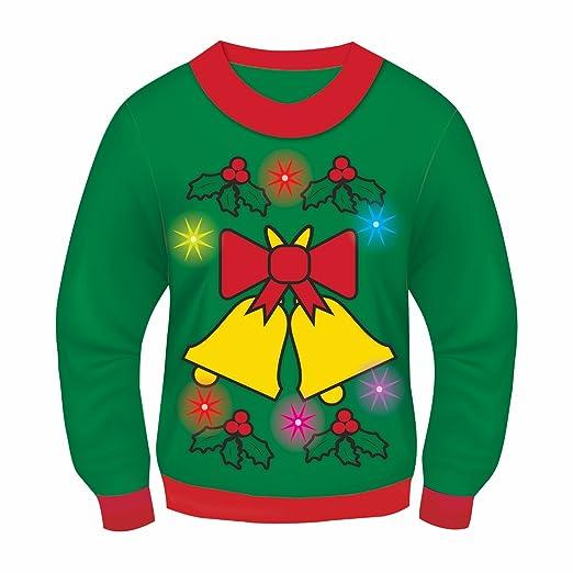 569b1fb07 Amazon.com  Forum Novelties Light-Up Ugly Christmas Sweater  Clothing