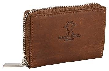 Klassisch Geldbörse Leder Portemonnaie Portmone Damen Damenbörse Damen-accessoires Braun