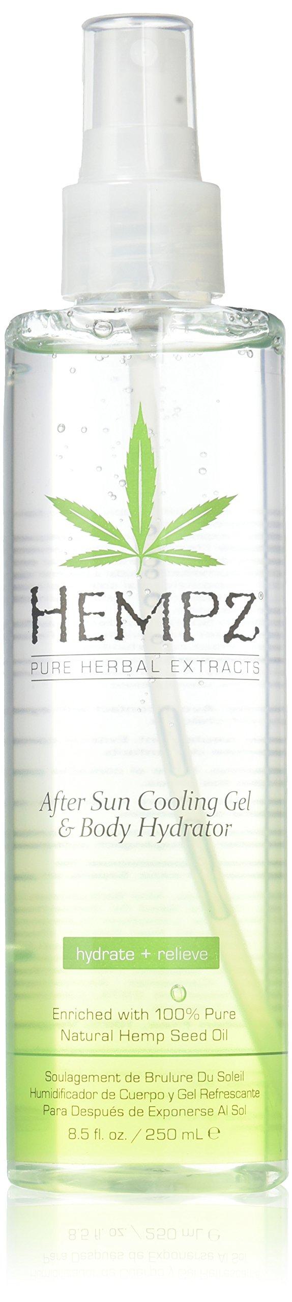 Hempz After Sun Cooling Gel and Body Hydrator, Clear, Peach Nectar, 8.5 Fluid Ounce