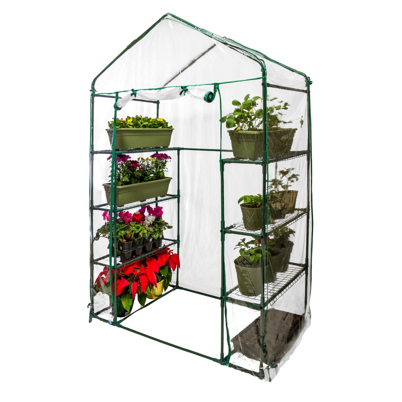 U.S. Garden Supply Premium Walk-In 4 Tier Greenhouse, 56'' Wide x 29'' Deep x 77'' High - Grow Seeds & Seedlings, Tend Potted Plants