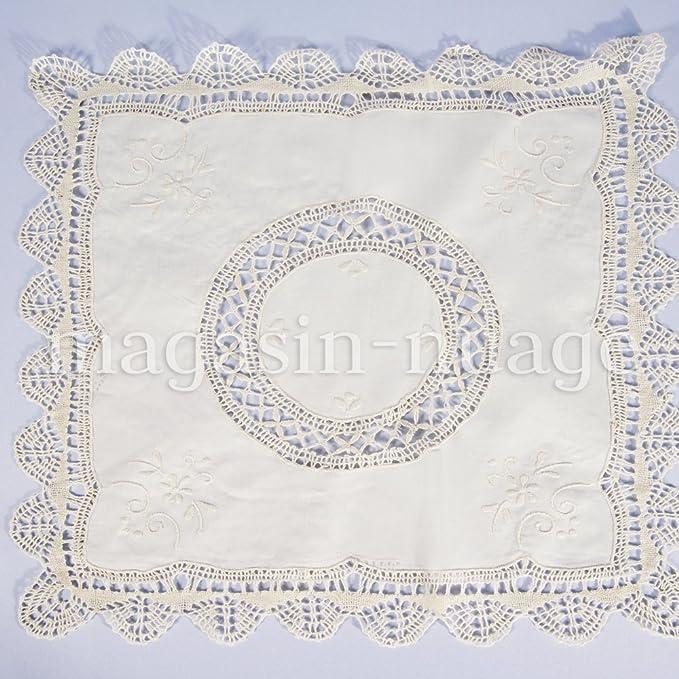 Nuage Lote de 4 paños de algodón, Color Crudo con Encaje: Amazon.es ...