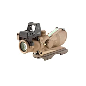 Trijicon TA31-ECOS ACOG 4x32 Flat Dark Earth Scope, Dual Illumination Crosshair Reticle with 3.25 MOA RMR Sight