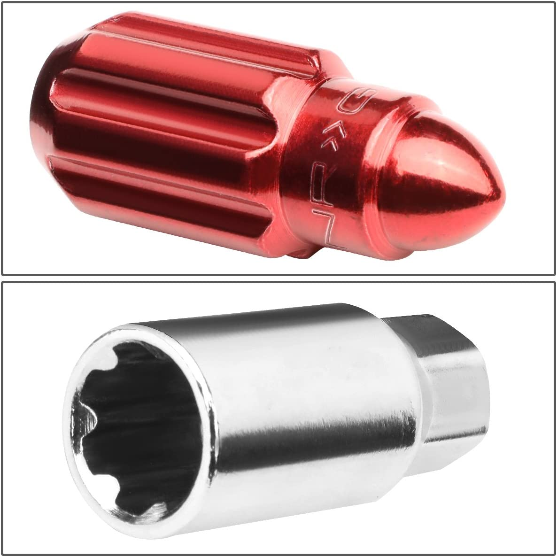 NRG Innovations LN-LS500RD-21 20pcs M12x1.5 Locking Lug Nuts Wheel Lock Key