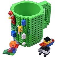 Kyonne Build-on Brick Mug, Tazza da Costruire con Mattoncini, Tazze da Colazione, Idee Regalo per Natale Originali