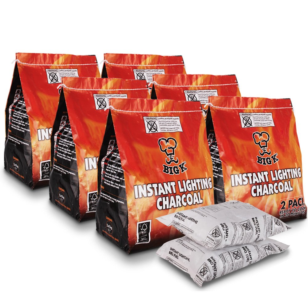 2 Pack (X2, 1KG bags) of Instant Light The Bag BBQ Charcoal for Stoves BBQs Burner - Comes With THE CHEMICAL HUT® Anti-Bacterial Pen!…