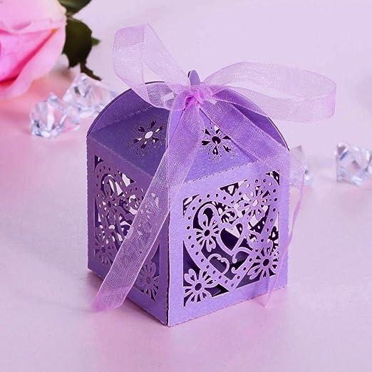 99 opinioni per JZK® 50 x Scatoline scatole perlato portaconfetti bomboniere segnaposto per