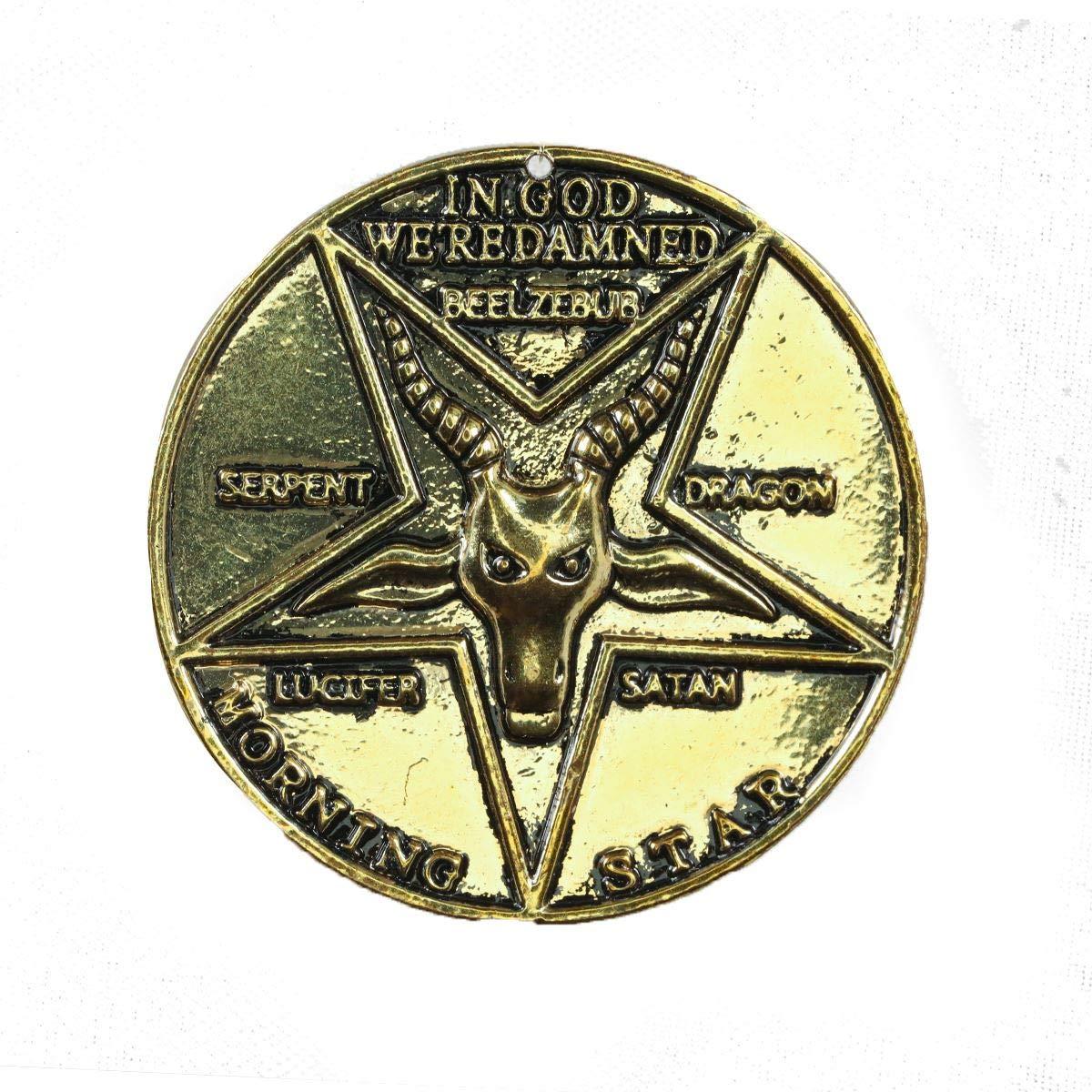 LIGONG 2Pcs Satan Coins Lucifer Pentecostal Coin Cosplay Accessories Movie Costume Prop