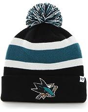 47 Brand San Jose Sharks Breakaway NHL Knit Hat w Pom 020270af4104