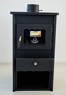 Estufa de leña Metal Board 2 de Prometey; de acero, combustible sólido, 8