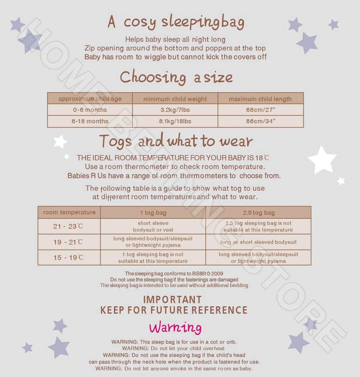My Little World Nursery Baby Pink Blue Boys Girls Sleepbag Bird Dog 2.5 Tog Sleeping Bag 0-6mths, Blue Dog Motif