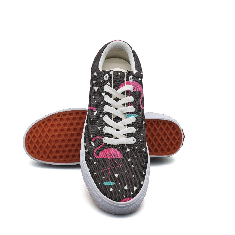 Ouxioaz Womens Canvas Shoes Casual Flamingo Cartoon Shoe Laces