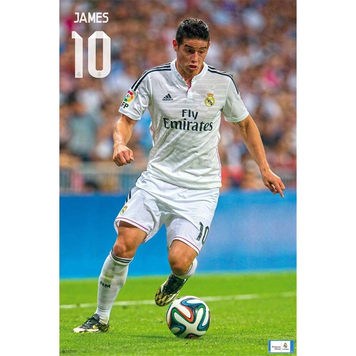 Amazon Premiership Soccer James Rodriguez Action Poster