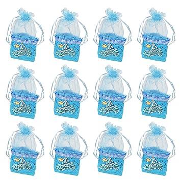 12 bolsa de caramelos, bolsitas de bautizo niño, Cajitas ...
