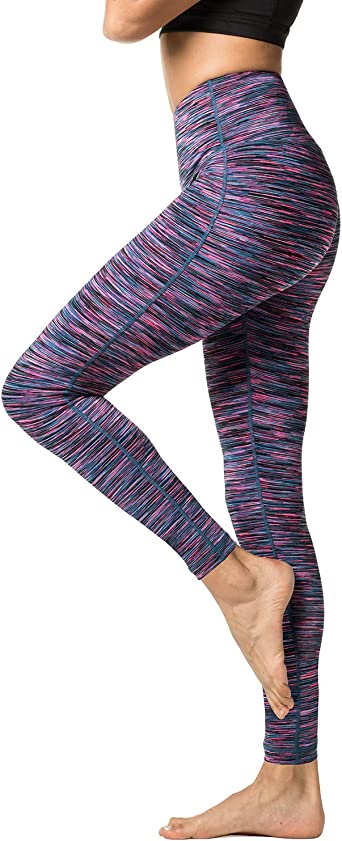 LAPASA Leggins Mujer Cintura Alta Fitness, Mallas de Deporte con Bolsillo, Pantalón Deportivo Elásticos y Transpirable, Leggings Push Up para Running ...
