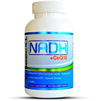 MAAC10 NADH + CoQ10 Supplement | Supports Fatigue, Energy and NAD+ | Active Vitamin B3 | 50mg PANMOL® NADH + 100mg CoQ10 (60 Count 2 per Serving).