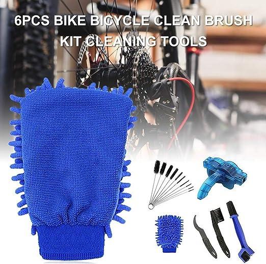 Depruies - Juego de 6 cepillos de Limpieza para Bicicleta para ...