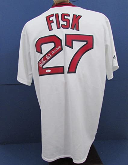 sports shoes e48e8 c6114 Signed Carlton Fisk Jersey - HOF 2000 Majestic JSA W817073 ...