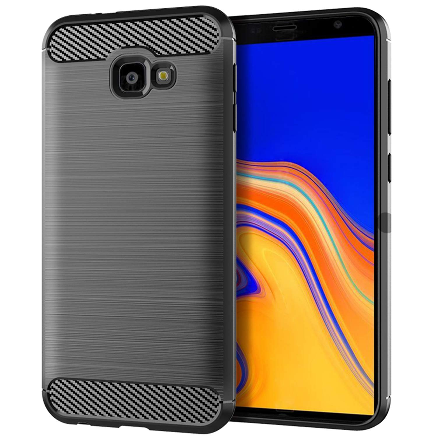 Amazon Samsung Galaxy J4 Plus 2018 Case SCL Samsung Galaxy J4 Plus Phone Case Exquisite Series Carbon Fiber Design Protective Cover with Anti Scratch
