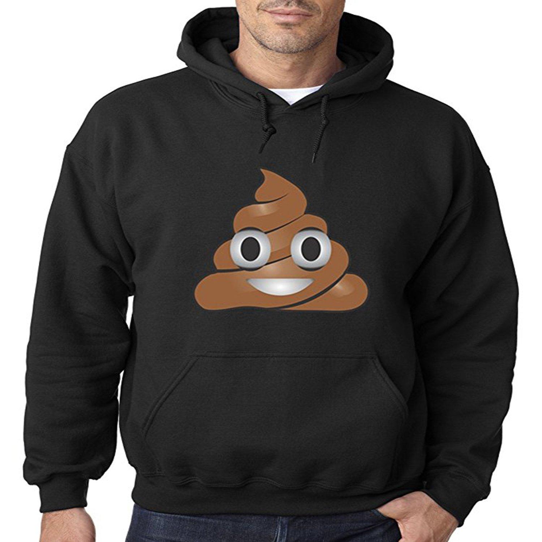 LELE Emoji Poop Cartoon Shit Unisex Boy Girl Youth Women Men Adult Pullover Hooded Pocket Hoodie Sweatshirt