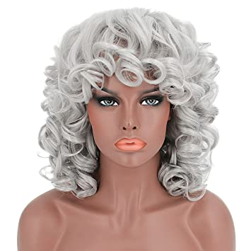 YOURWIGS Kinky Short Curly Hair Wigs for