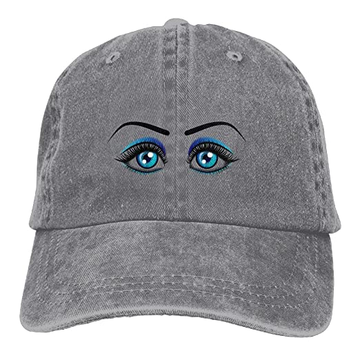 5070e72b DAWENBI Blue Wink Eyes Unisex Washed Twill Cotton Baseball Cap Fashion  Adjustable Dad Hat For Workouts